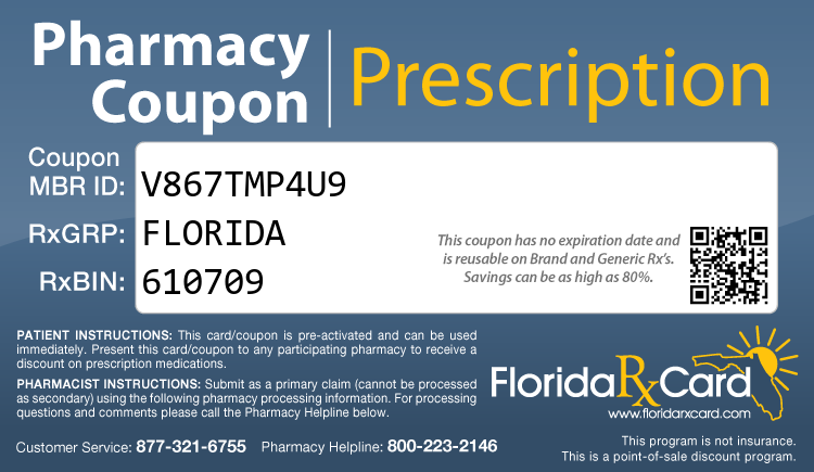Florida Rx Card - Free Prescription Drug Coupon Card